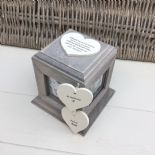 Shabby Chic In Memory Of A Son ANY NAME Rustic Wood Personalised Photo CUBE Box - 332868771088